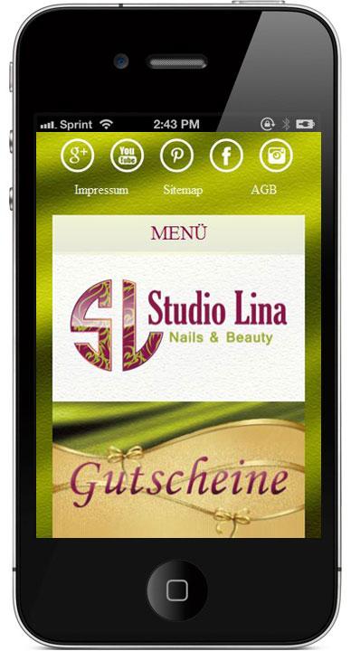 Portfolio Studio Lina 3 Eine responsive Webseite für Studio Lina in Salzburg